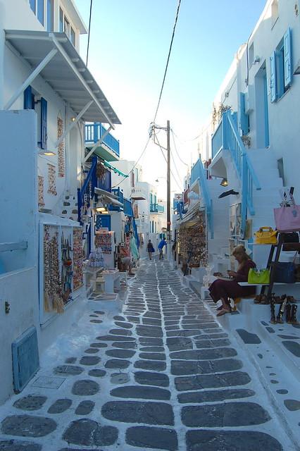 Alleys in Mykonos