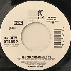 BROWNSTON:KISS AND TELL(LABEL SIDE-A)