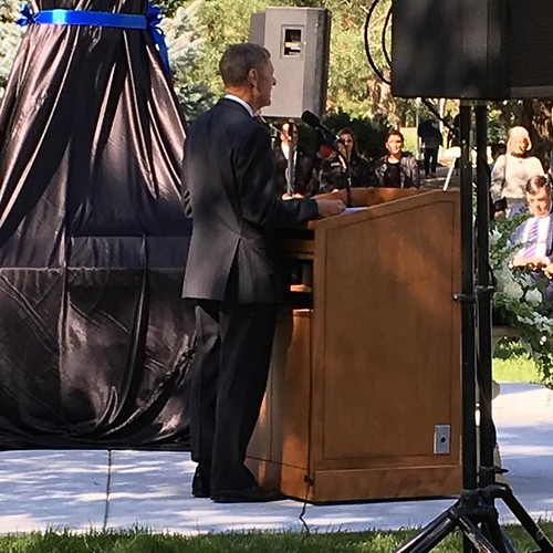 "President Farley: ""We are here to honor an American hero and a statesman ..."" #washburnuniversity"