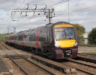 Arriva Cross Country Trains . 170105 . Ely Station , Cambridgeshire . Monday 08th-October-2018 .