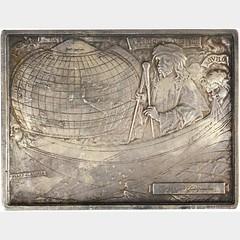 1903 Amerigo Vespucci Plaque reverse
