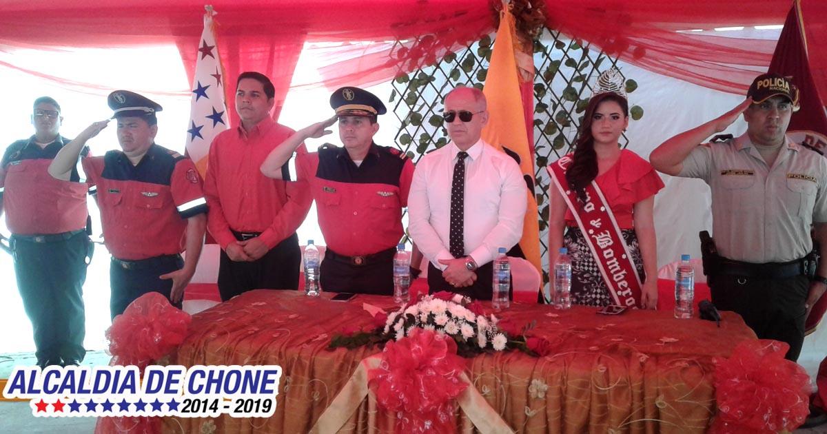 Bomberos de Chone celebraron su día
