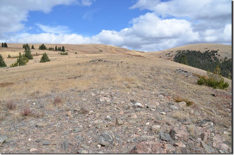 Looking northeast at Ptarmigan Peak from Ptarmigan Peak trail near 11,600 ft (2)
