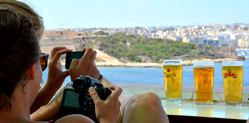 After a day sightseeing in Valletta