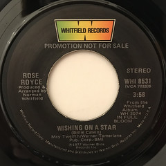 ROSE ROYCE:WISHING ON A STAR(LABEL SIDE-A)