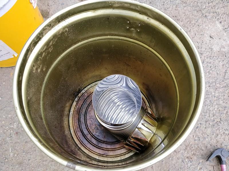 ビニールハウス用のストーブを作る (6)