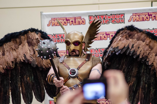 Hawkman and a Phone in the Way