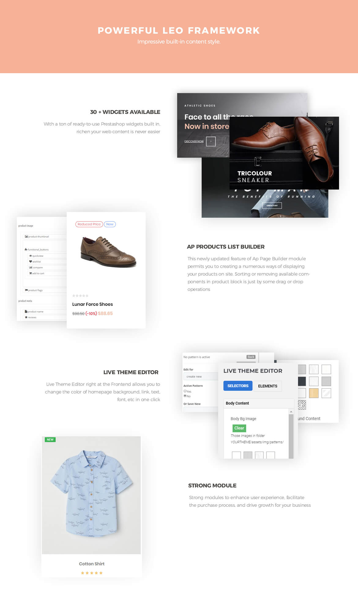 powerful prestashop framework - Leo Topman - Men Shoes and Fashion Prestashop 1.7 theme