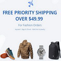 Free Priority Shipping Over $49.99 for Fashion orders from Gearbest