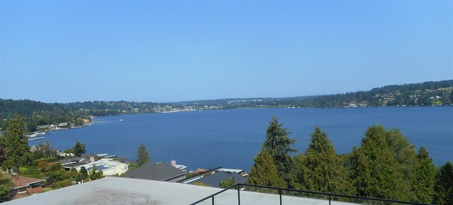 Beautiful North Shore of Lake Washington in Lake Forest Park and Kenmore, WA in the distance just 20 minutes to downtown Seattle