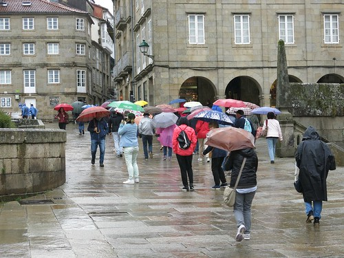 Postcards from Santiago de Compostella - The Rain in Spain