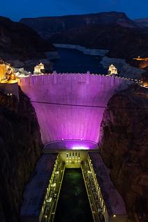 Hoover Dam in Purple