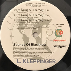 SOUNDS OF BLACKNESS:I'M GOING ALL THE WAY(LABEL SIDE-B)