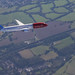 On holding pattern before landing at Gatwick Airport