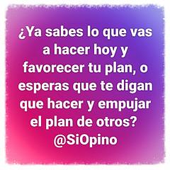 ¿Cuál es tu plan?