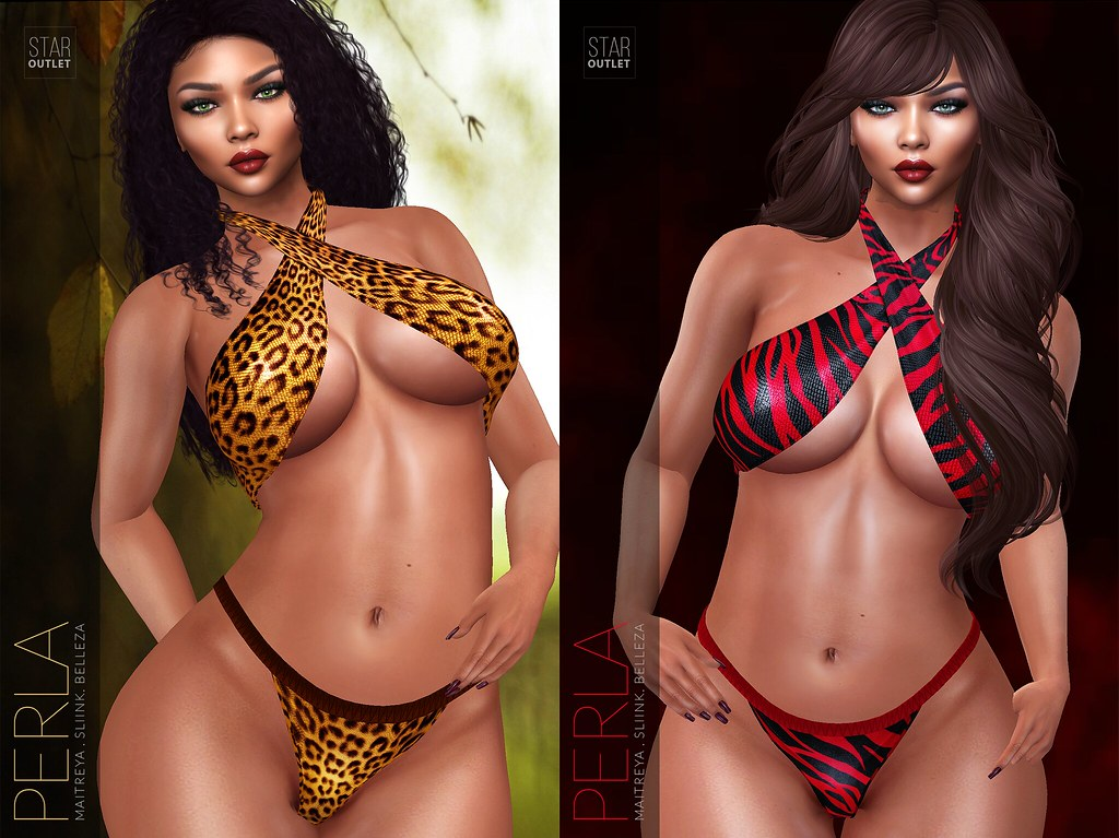 Star Outlet Perla Bikini Leopard & Red Tigress