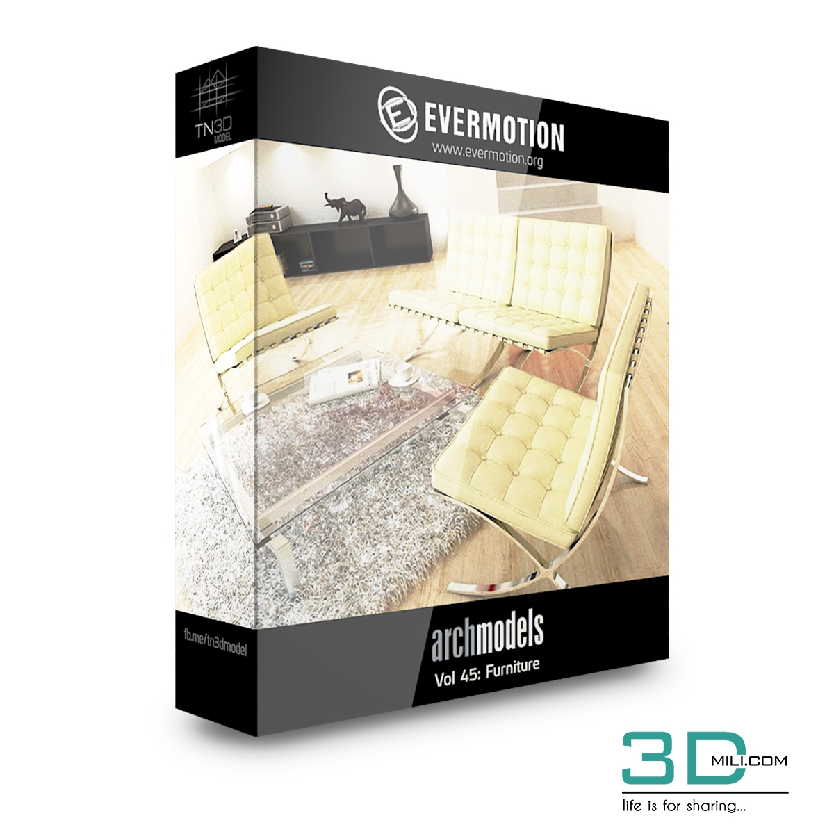 Evermotion Archmodels Vol 45: Furniture - 3D Mili - Download 3D