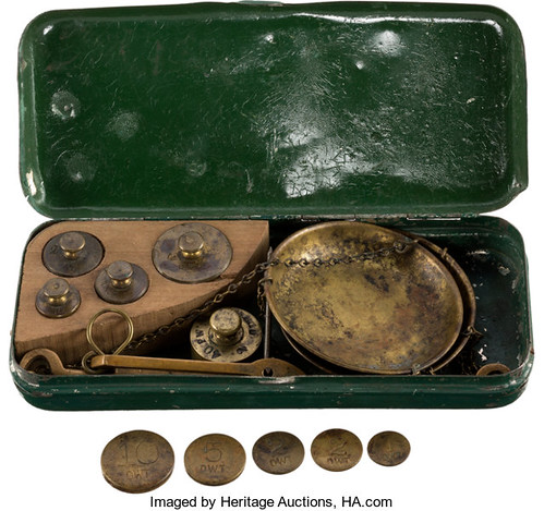 1850 Miners Improved Gold Scale open