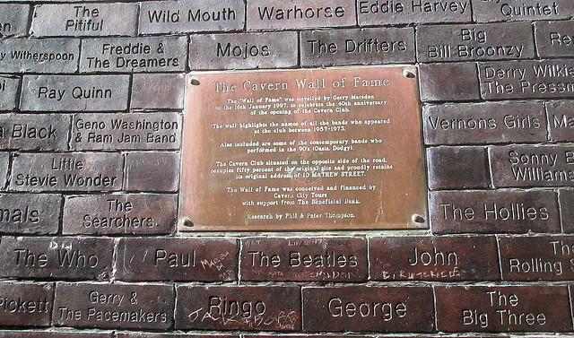 Cavern Club Wall of Fame Plaque