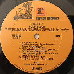 COLD BLOOD:THRILLER!(LABEL SIDE-B)