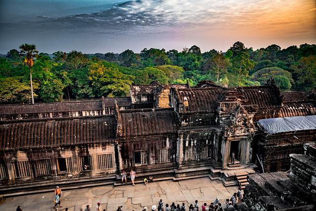 Sunrise View of the Northern View of Angkor Wat, Angkor, Cambodia-14a
