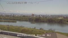 長良川犀川第3・統合(排)ライブカメラ画像. 2018/10/08 10:38