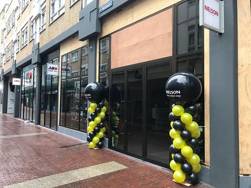 Ballonpilaar Breed Rond Opening Nelson Schoenen Zoetermeer