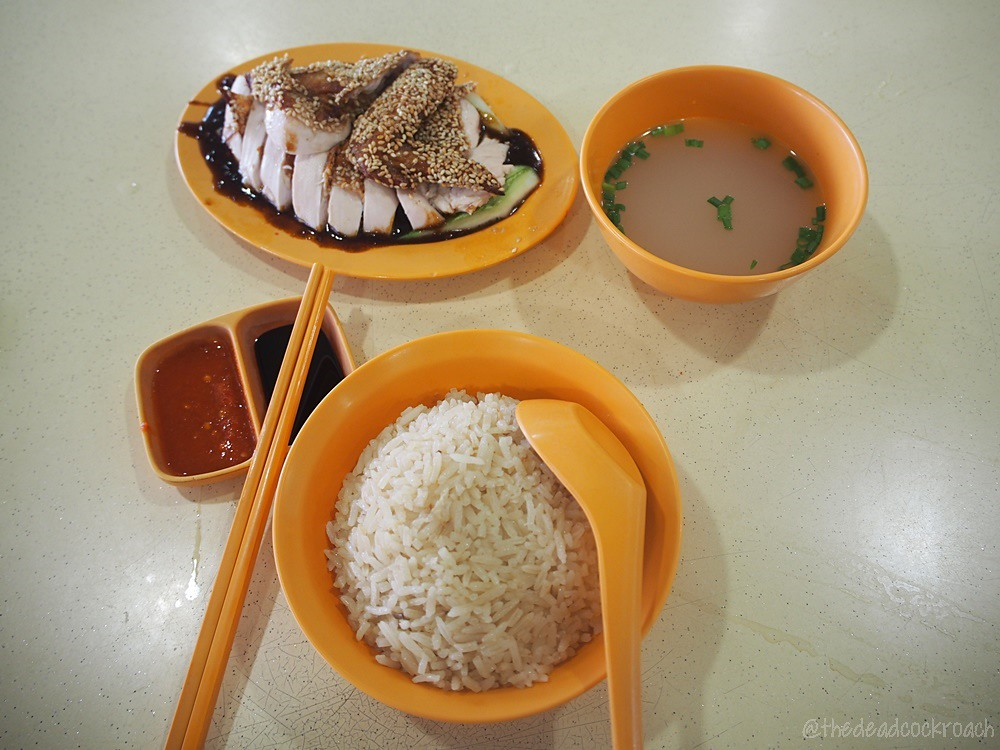 food review,food,review,实美芽菜鸡饭,shi mei hainanese chicken rice,bukit gombak,chicken rice,sesame chicken,sesame chicken rice