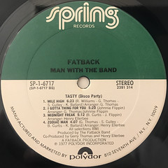 FATBACK:MAN WITH THE BAND(LABEL SIDE-B)