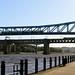 Three bridges, two trains