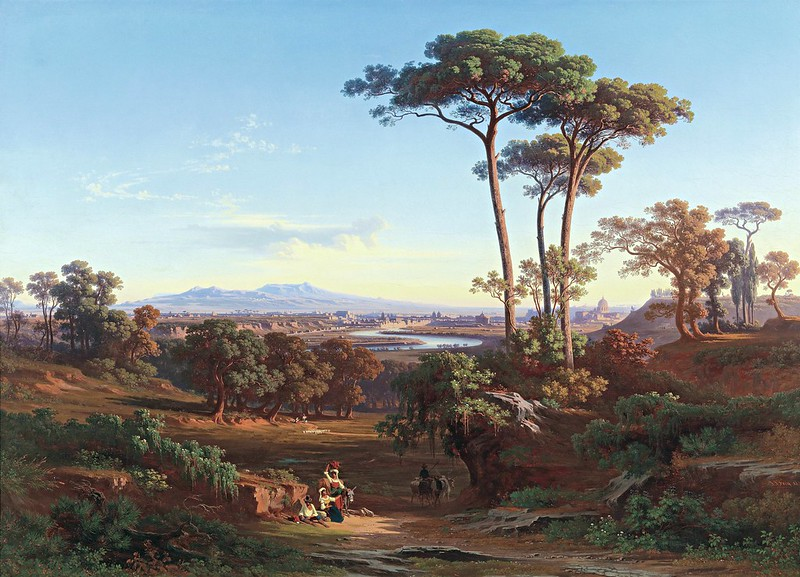 Johann Jakob Frey - View of Rome as Seen from Monte Mario (1850)