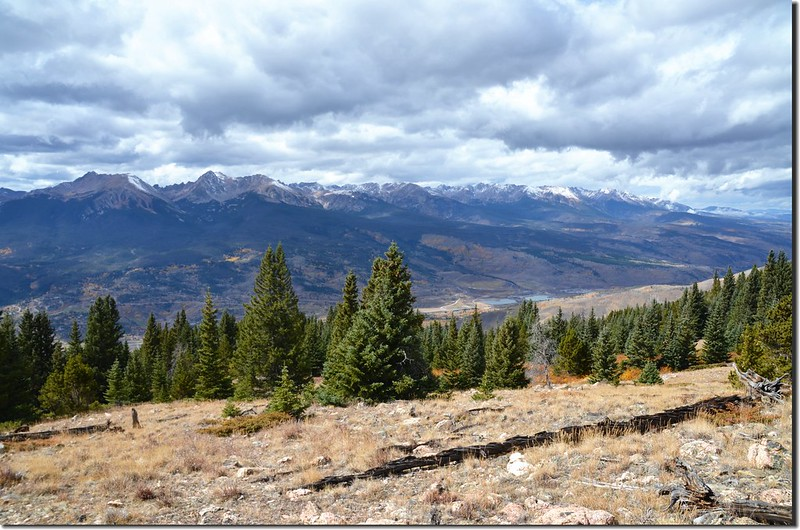 Looking west at Gore Range from Ptarmigan Peak Trail near 11,650 ft (3)