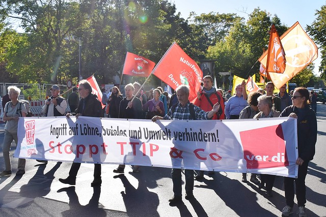 30.09.18: Mit Pauken und Trompeten: Für einen gerechten Welthandel – CETA stoppen!