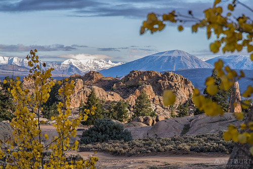 hartmanrocks aspen fall fallcolor leaves snow sunrise