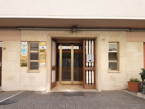 Vaticanum 67 building entrance