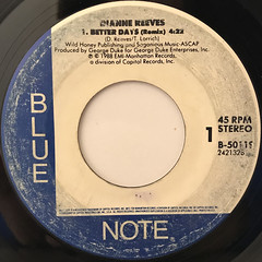 DIANNE REEVES:BETTER DAYS(REMIX)(LABEL SIDE-A)
