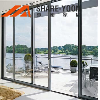 aluminum glazed sliding door