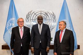 AU-UN -EU trilateral and AU-UN bilateral  metting at UN Headquarters.Sep.23,2018