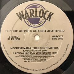 HIP-HOP AGAINST APARTHEID:NDODEMNYAMA(FREE SOUTH AFRICA)(LABEL SIDE-A)