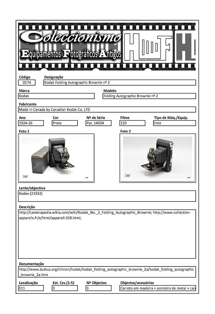 Inventariação da colecção_0274 Kodak Folding Autographic Brownie nº 2
