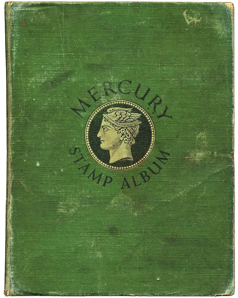Front cover of John Lennon's Mercury stamp album