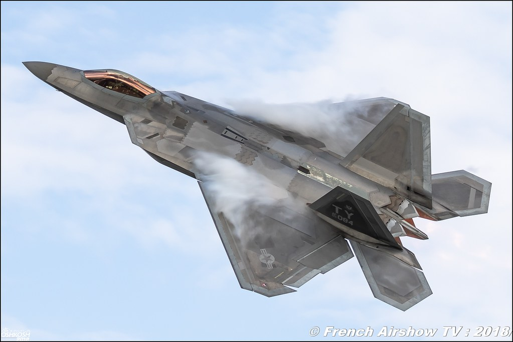 AFRC 70th Anniversary F 22 Raptor EAA Oshkosh 2018