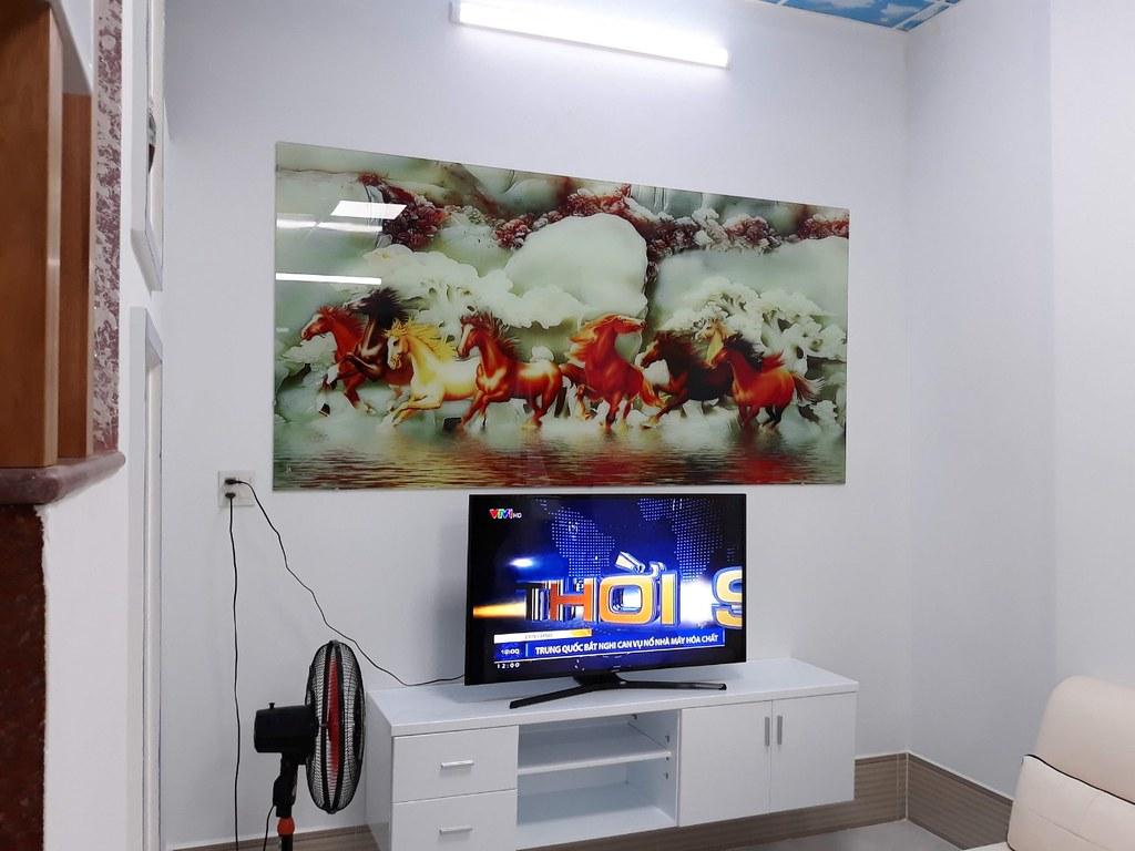 Tranh kính cường lực 3D: Mã Đáo Thành Công TKZ-002 tại nhà anh Khởi - Tp Bạc Liêu