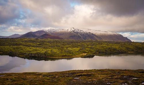 Selvallavatn lava fields and lake- Snæfellsnes Peninsula Tour. Photographer Scott Drummond