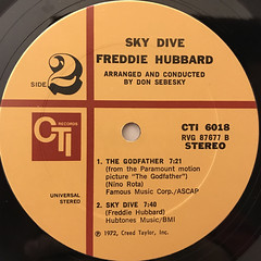 FREDDIE HUBBARD:SKY DIVE(LABEL SIDE-B)