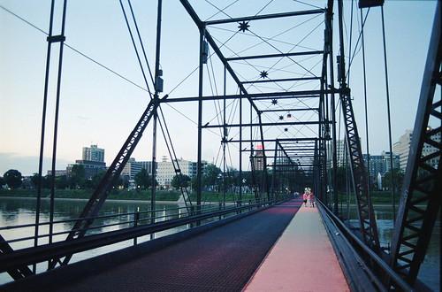 Walnut Street Bridge at Dusk, Harrisburg, Pennsylvania
