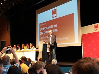 Landesparteitag der SPD Hamburg im Oktober 2018