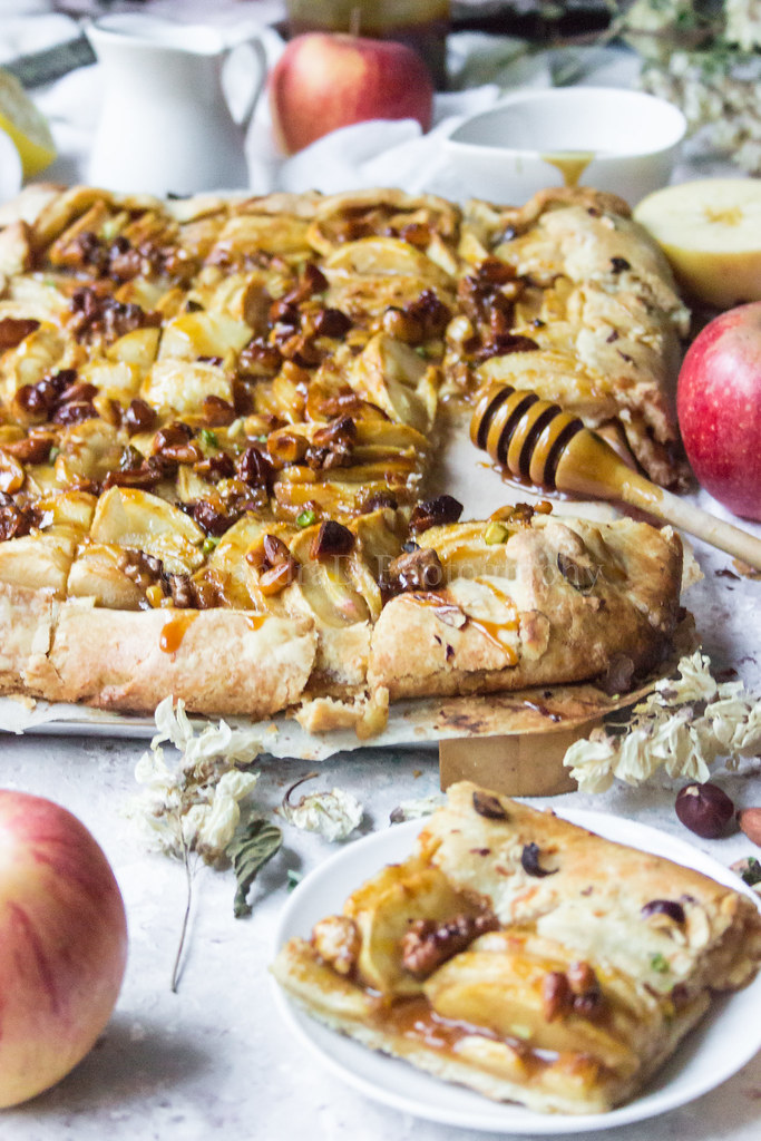 Apple Galette, Salted Butter Caramel & Nuts