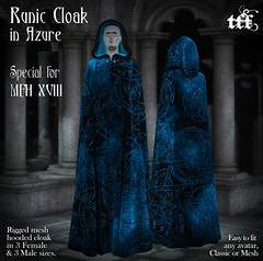 TFF Runic Cloak in Azure - MFH XVIII EXCLUSIVE GIFT!
