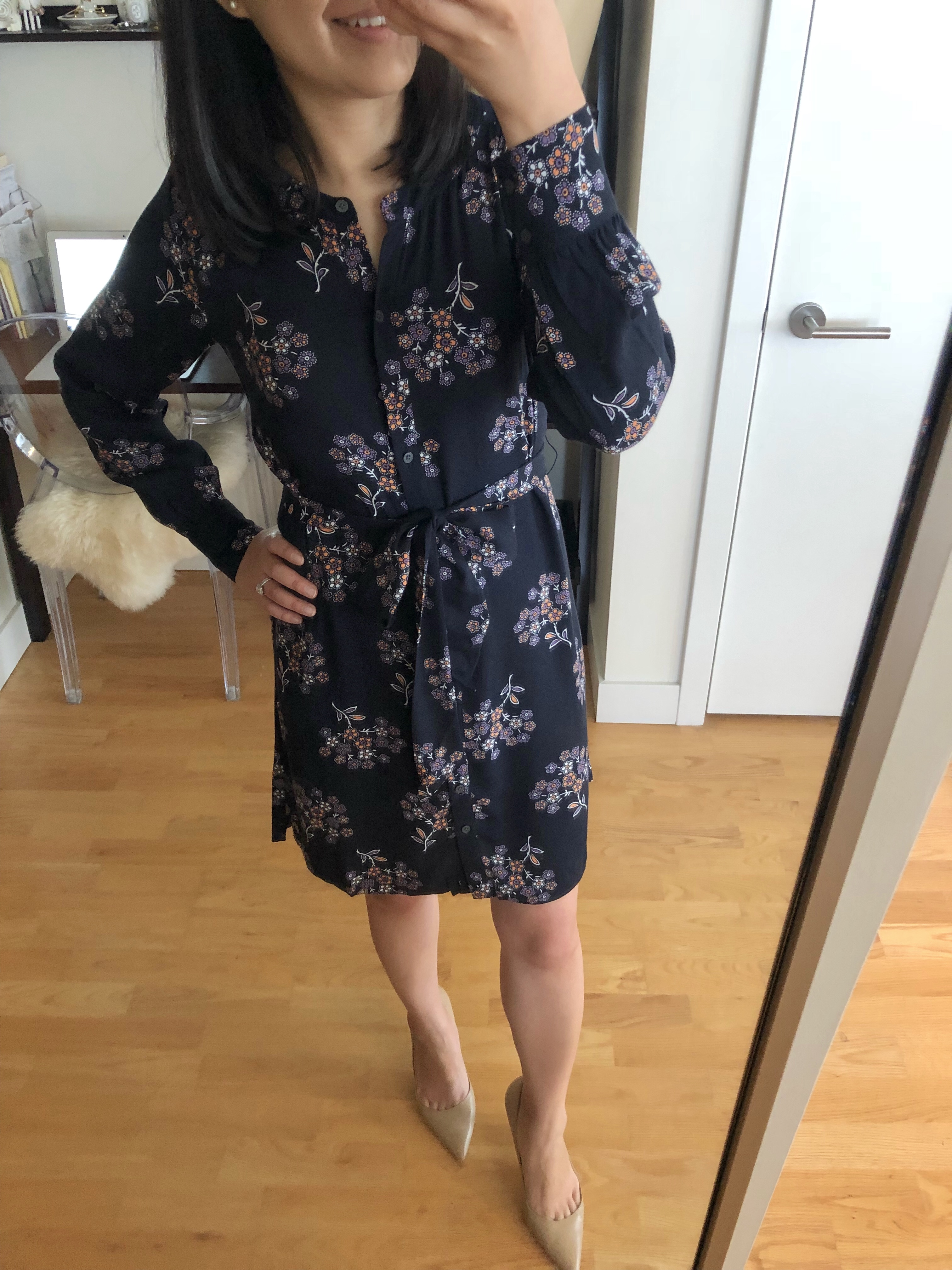 LOFT Anemone Shirtdress, size XXSP